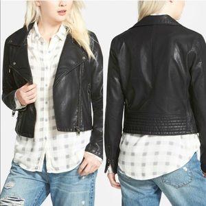 BLANKNYC Faux Leather Black Moto Jacket XS